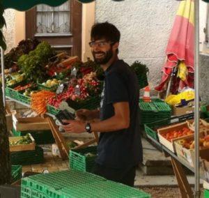 Xavier Breuil au marché