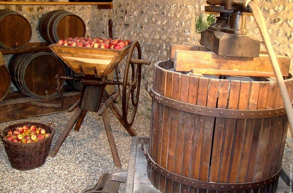 Les pommes pressées sous la Grange, sous un air d'accordéon !