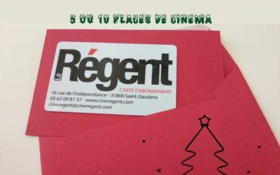 La carte pré-payée du Cinéma Le Régent – St Gaudens en vente à la Grange pour vos cadeaux de Noël !