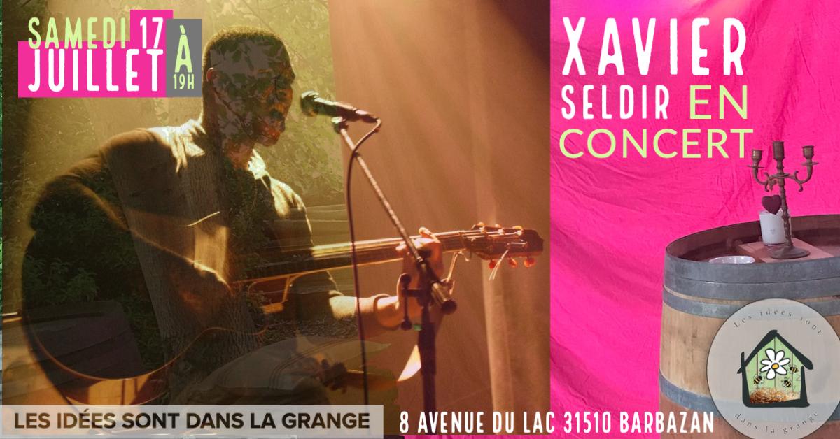 affiche Xavier Seldir en concert
